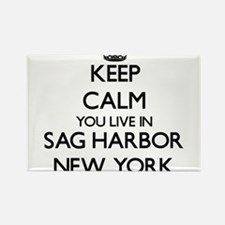 Keep calm you live in Sag Harbor New York Magnets