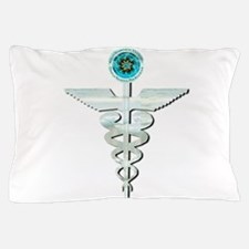 CRPS RSD Awareness Glacier Caduceus Pillow Case