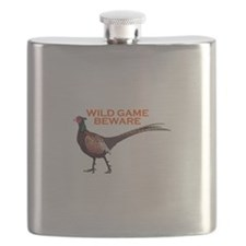 WILD GAME BEWARE Flask