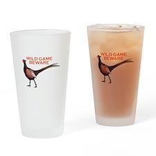 WILD GAME BEWARE Drinking Glass