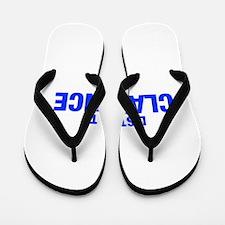 LISTEN TO CLARENCE-Hel blue 400 Flip Flops