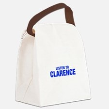 LISTEN TO CLARENCE-Hel blue 400 Canvas Lunch Bag