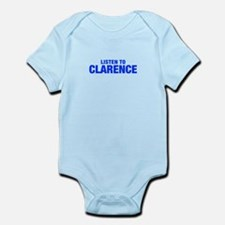 LISTEN TO CLARENCE-Hel blue 400 Body Suit
