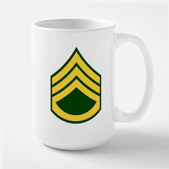 """Army E6 """"Class A's"""" Large Mug"""
