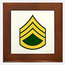 """Army E6 """"Class A's"""" Framed Tile"""