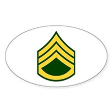"Army E6 ""Class A's"" Oval Decal"