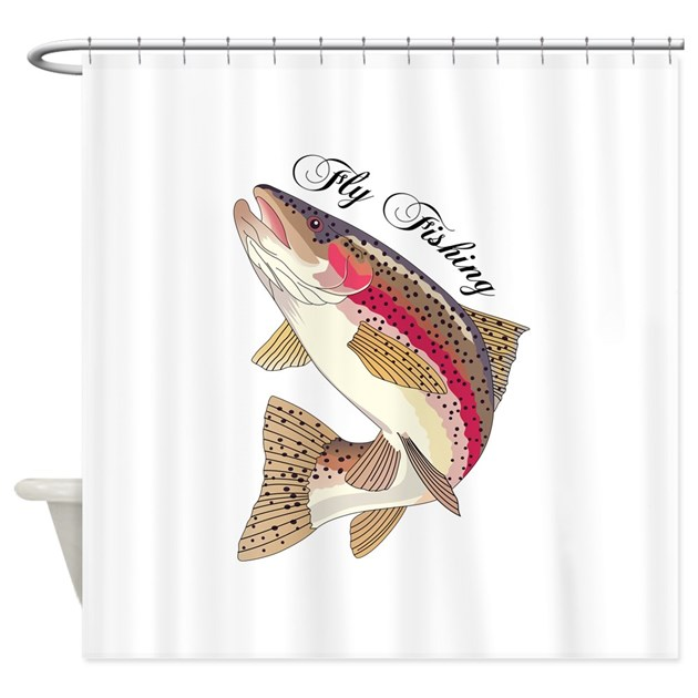Fly Fishing Shower Curtain By Greatnotions27