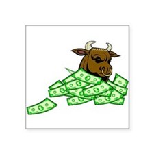Bull With Money Sticker