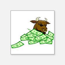 Bull With Money Sticker