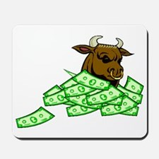 Bull With Money Mousepad
