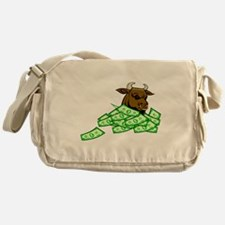 Bull With Money Messenger Bag