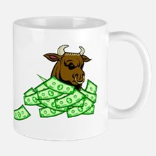 Bull With Money Mugs