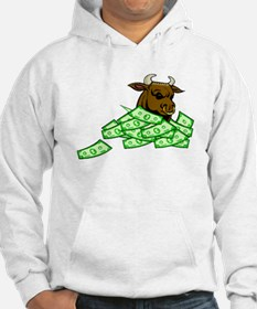 Bull With Money Hoodie