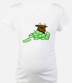 Bull With Money Shirt