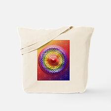 Geometric Eye Chakra Mandala Tote Bag