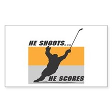 He Shoots...He Scores! Rectangle Decal