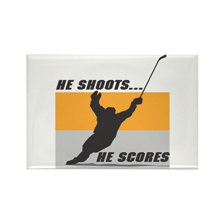 He Shoots...He Scores! Rectangle Magnet (10 pack)