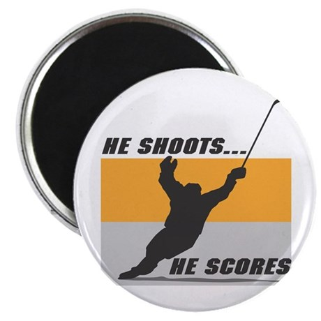 """He Shoots...He Scores! 2.25"""" Magnet (10 pack)"""