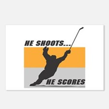 He Shoots...He Scores! Postcards (Package of 8)