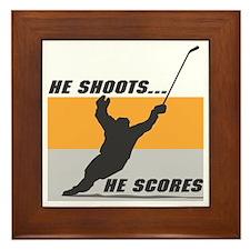 He Shoots...He Scores! Framed Tile