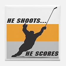 He Shoots...He Scores! Tile Coaster