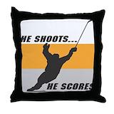 Goalie gifts Throw Pillows