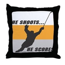 He Shoots...He Scores! Throw Pillow