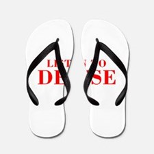 LISTEN TO DENISE-Bod red 300 Flip Flops