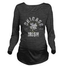 Chicago Irish 1830 V Long Sleeve Maternity T-Shirt