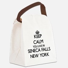 Keep calm you live in Seneca Fall Canvas Lunch Bag