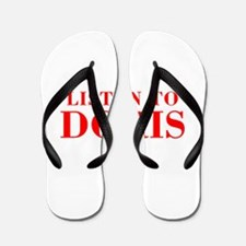 LISTEN TO DORIS-Bod red 300 Flip Flops