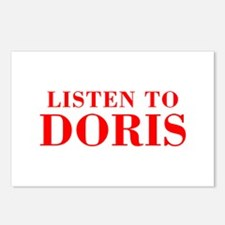 LISTEN TO DORIS-Bod red 300 Postcards (Package of