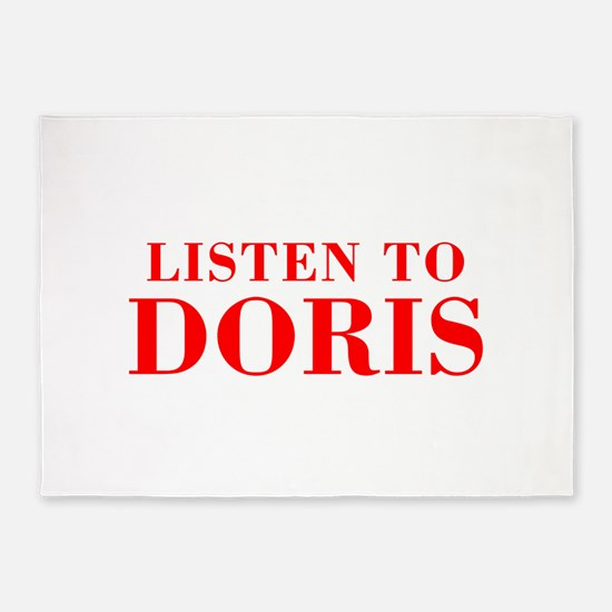 LISTEN TO DORIS-Bod red 300 5'x7'Area Rug