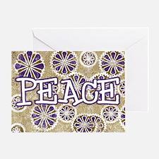 Snowflake Peace Greeting Card
