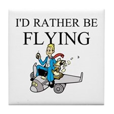 Rather Be Flying2 Tile Coaster
