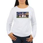 Starry Basset Women's Long Sleeve T-Shirt