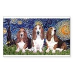 Starry Basset Sticker (Rectangle)