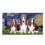 Starry Basset Postcards (Package of 8)