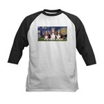 Starry Basset Kids Baseball Jersey