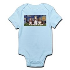 Starry Basset Infant Bodysuit