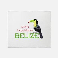 TOUCAN LIFE IN BELIZE Throw Blanket