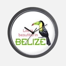 TOUCAN LIFE IN BELIZE Wall Clock