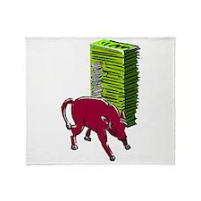 Bull Market Throw Blanket