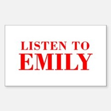 LISTEN TO EMILY-Bod red 300 Decal
