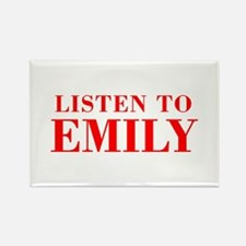 LISTEN TO EMILY-Bod red 300 Magnets