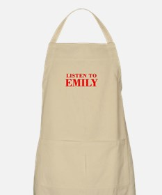 LISTEN TO EMILY-Bod red 300 Apron
