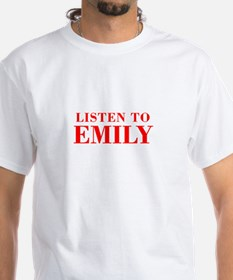 LISTEN TO EMILY-Bod red 300 T-Shirt