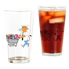 Bull Shopping Drinking Glass