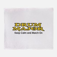 KEEP CALM MARCH ON Throw Blanket