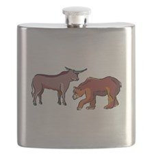 Bull And Bear Flask